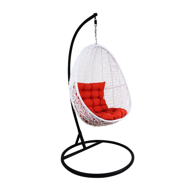 This is a product image of Cushion Covers + Insert for White Cocoon Swing Chair. It can be used as an Cushions for Outdoor Furniture.