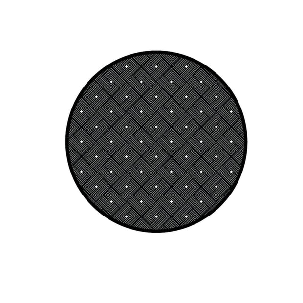 This is a product image of Ease Round Reversible Mat - Black. It can be used as an Home Accessories.
