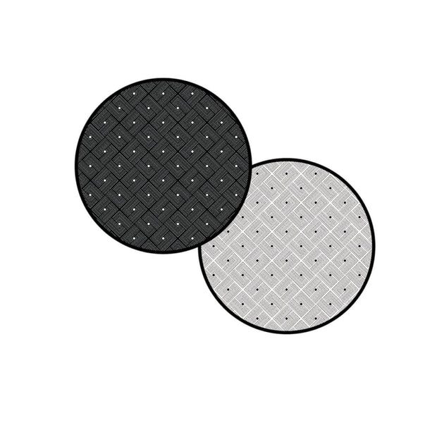 Ease Round Reversible Mat - Black - Accessories