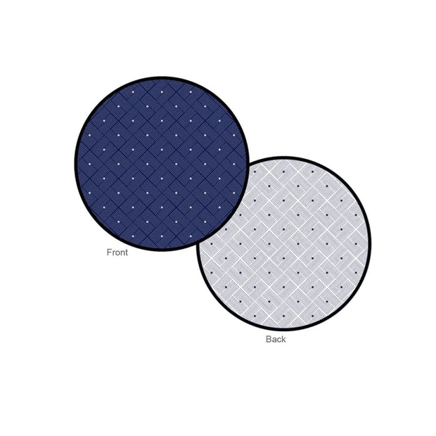 Ease Round Reversible Mat - Blue - Accessories