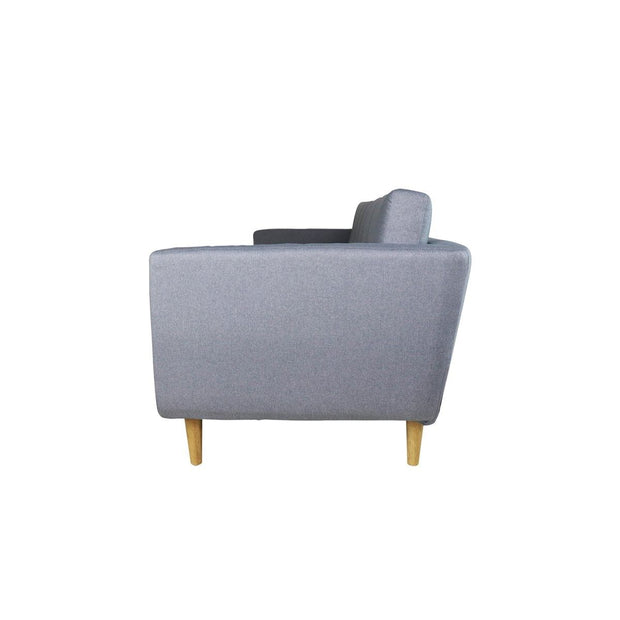Eddie 3 Seater Sofa Light Grey