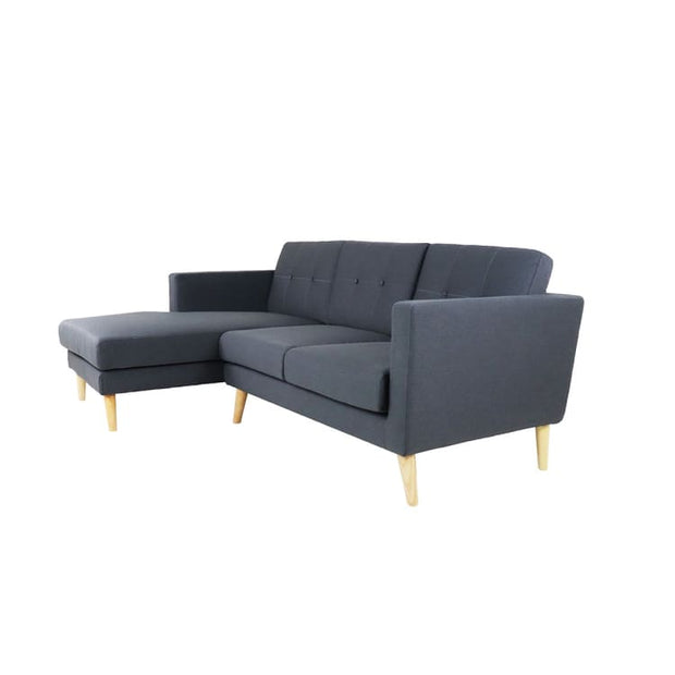 Eddie L Shape Sofa - Right When Seated Dark Grey (OPEN BOX) - Arena Living
