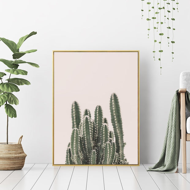 Embrace Cactus - Wall Art Print with Frame