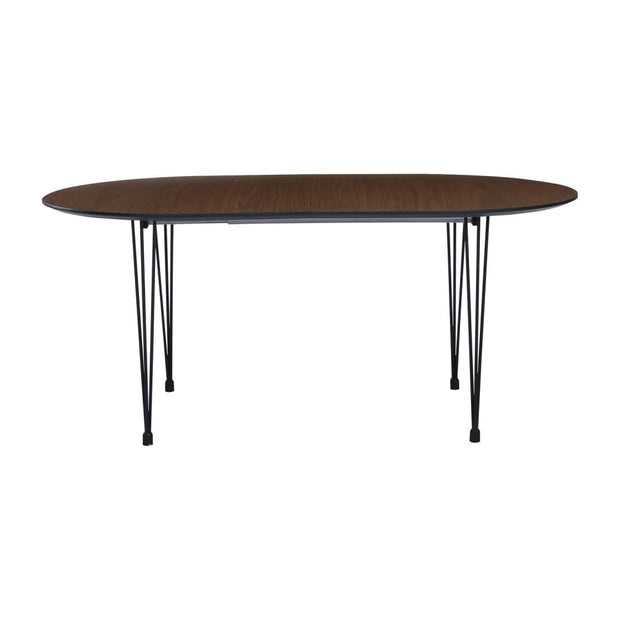 Extendable Omeo 6-8 Seat Dining Table in Walnut Veneer Top