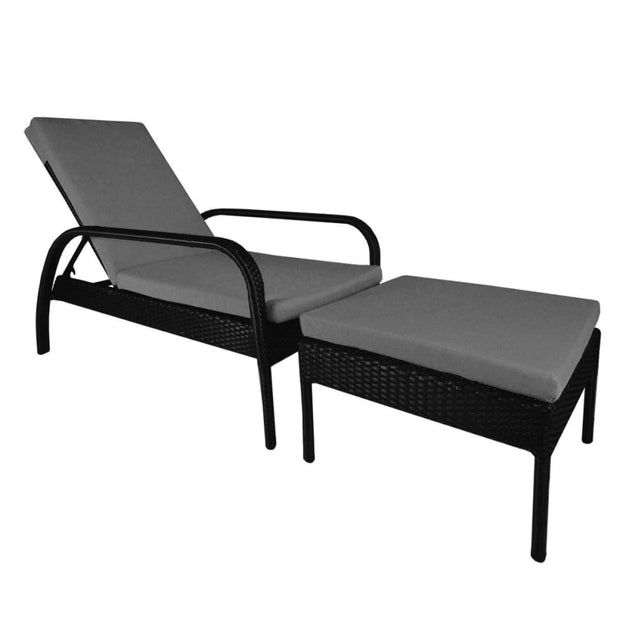 This is a product image of Ferraria Sunbed Grey Cushion. It can be used as an Outdoor Furniture.
