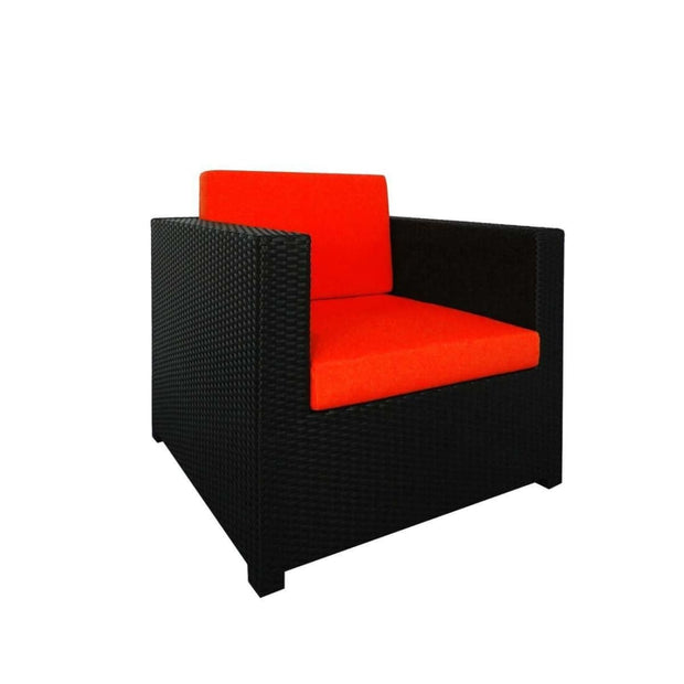 This is a product image of Fiesta Sofa Set II Orange Cushions. It can be used as an Outdoor Furniture.