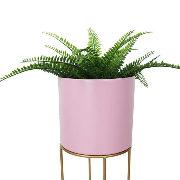 Flora Free Standing Planter - Pink Pot - Accessories