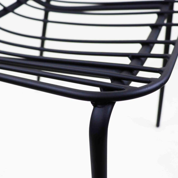This is a product image of Flore 1 Seater Black Bistro Chair. It can be used as an Outdoor Furniture.