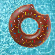This is a product image of Gigantic Chocolate Donut Inflatable Pool Float. It can be used as an Home Accessories.