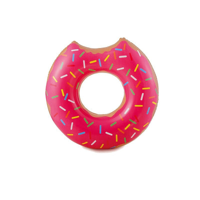 This is a product image of Gigantic Strawberry Pink Donut Inflatable Pool Float. It can be used as an Home Accessories.