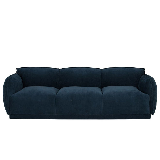 Glanza 3 Seater Sofa in Navy Colour Vega Fabric