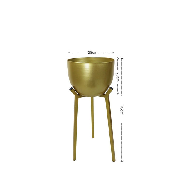 Glenn Free Standing Planter - Golden Pot