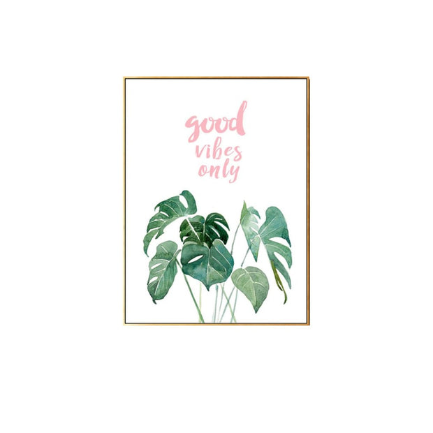Good Vibes Only - Wall Art Print with Frame - Accessories