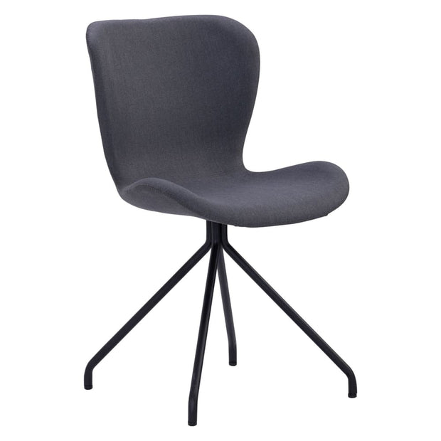 This is a product image of Gryta Dining Chair in Grey Recta Fabric Set of 2. It can be used as an.