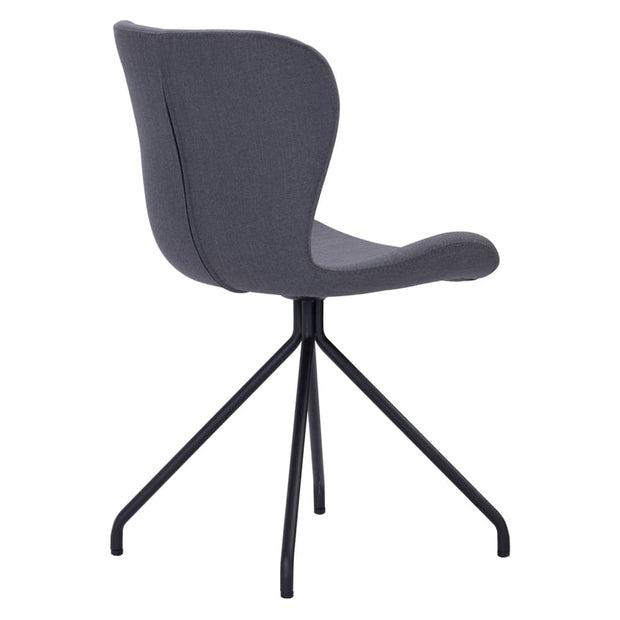 Gryta Dining Chair in Grey Recta Fabric Set of 2