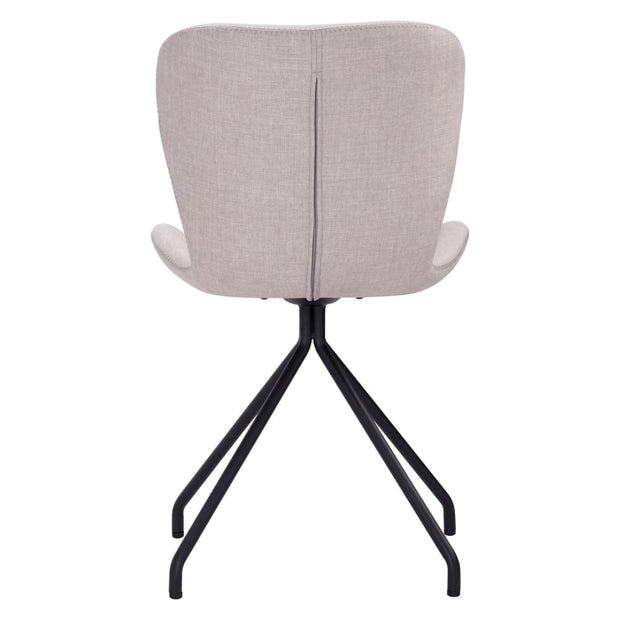 Gryta Dining Chair in Sand Colour Cambric Fabric Set of 2