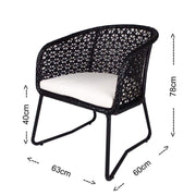 This is a product image of Horizon Patio Set Cream Cushion. It can be used as an Outdoor Furniture.