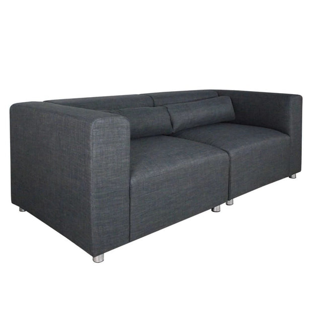 Houston 2 Seater Sofa Grey (2 Piece)