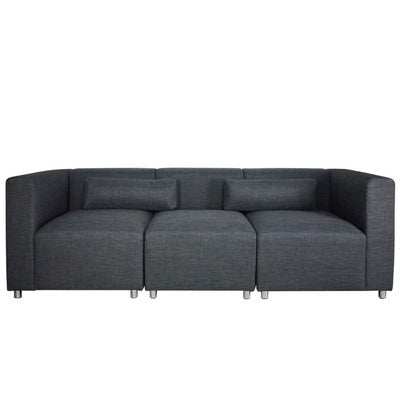 Houston 3 Seater Sofa Grey (3 Piece)