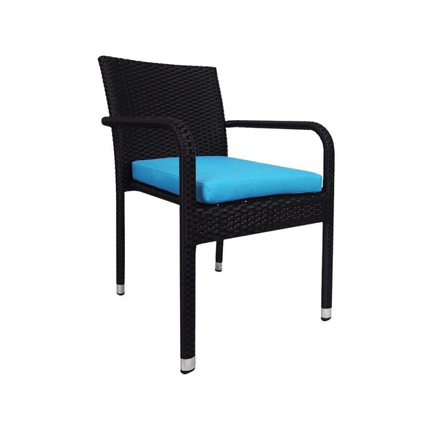 This is a product image of Jardin Outdoor Dining Chair Blue Cushion. It can be used as an Outdoor Furniture.