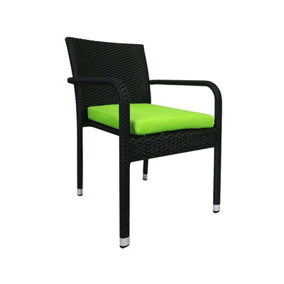 This is a product image of Jardin Outdoor Dining Chair Green Cushion. It can be used as an Outdoor Furniture.