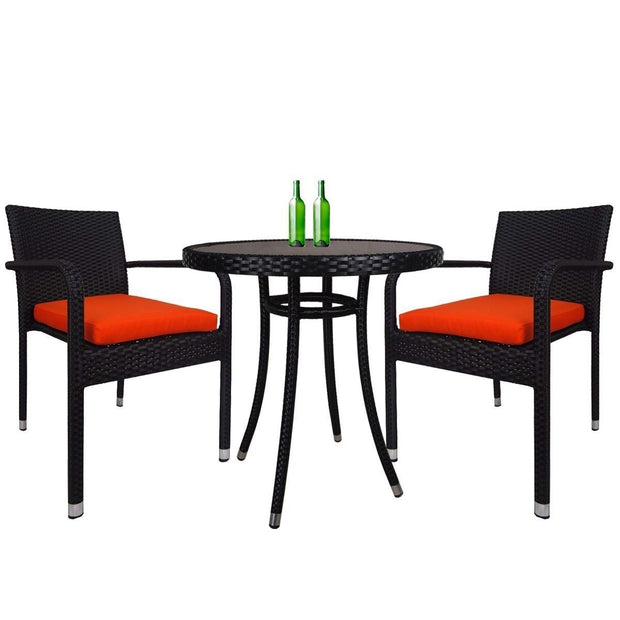This is a product image of Jardin Outdoor Dining Chair Orange Cushion. It can be used as an Outdoor Furniture.