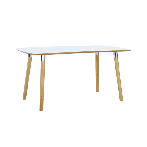 Jazz 4-6 Seat Dining Table in White Lacquered Top