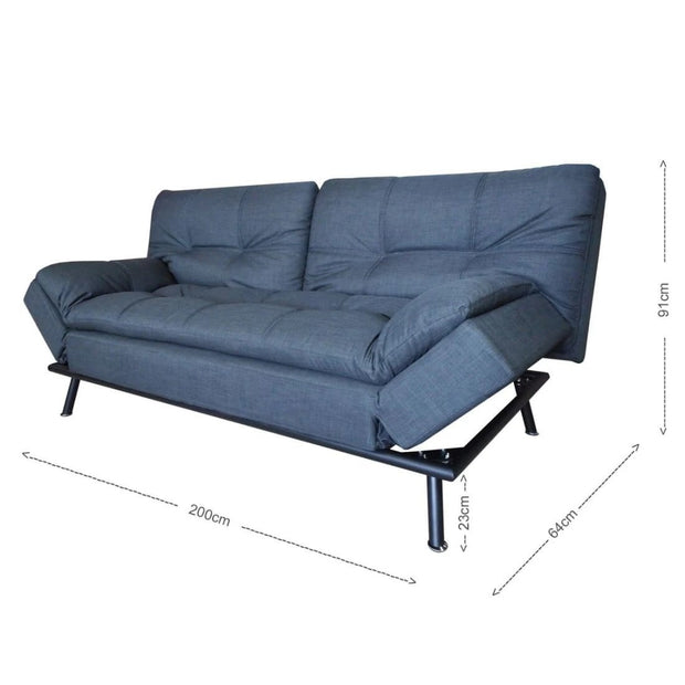 This is a product image of Jones Sofa Bed Grey (2.5 Seater). It can be used as an.