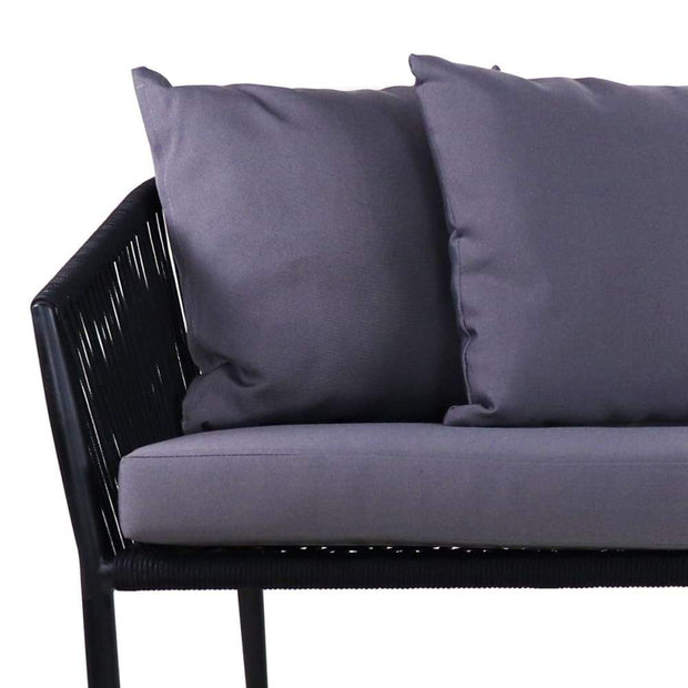 This is a product image of Kyoto 2+1+1 Seater Grey Cushions. It can be used as an Outdoor Furniture.