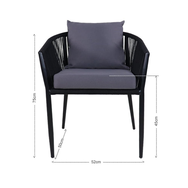 This is a product image of Kyoto Patio Set Grey Cushions. It can be used as an Outdoor Furniture.