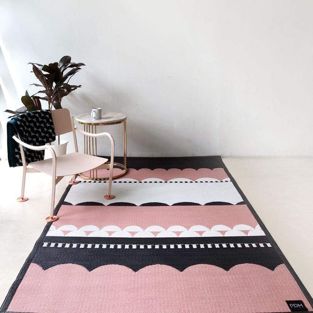 This is a product image of Laku Pink Outdoor Mat - Medium Size. It can be used as an Accessories.