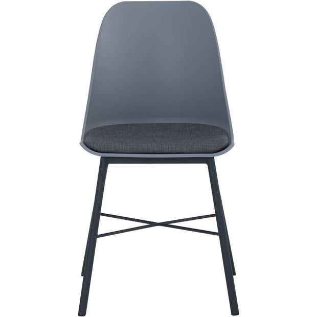 This is a product image of Laxmi Dining Chair Grey Set of 2. It can be used as an.