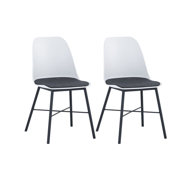 This is a product image of Laxmi Dining Chair White Set of 2. It can be used as an.