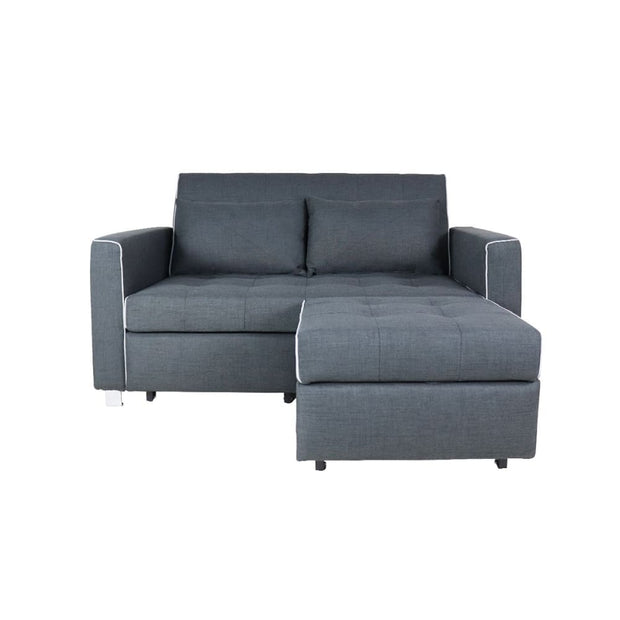 This is a product image of Lottie Sofa Bed Grey. It can be used as an.