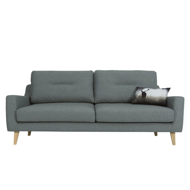 Malibu 3 Seater Sofa in Marble Blue Baize Fabric