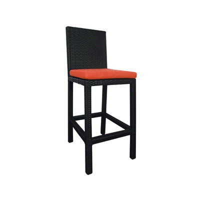 This is a product image of Midas Bar Chair Orange Cushion. It can be used as an Outdoor Furniture.