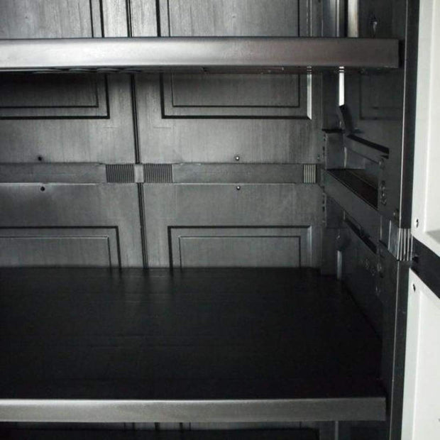 This is a product image of Optimus Large Storage Cabinet Grey - Assembly Included. It can be used as an Storage Cabinet.