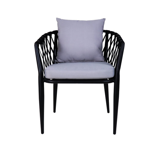 This is a product image of Orgo Patio Armchair Set Grey Cushion. It can be used as an Outdoor Furniture.