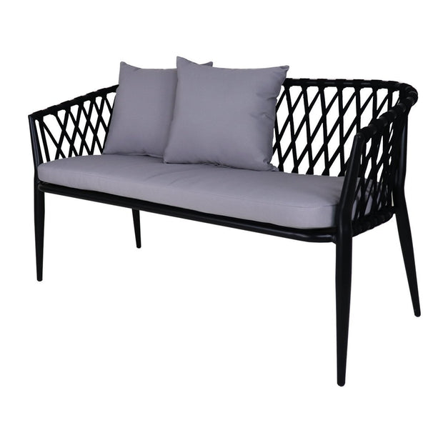 This is a product image of Orgo Sofa 2 + 1 Seater Set Grey Cushions. It can be used as an Outdoor Furniture.