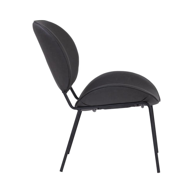 This is a product image of Ormer Lounge Chair Titanium Colour PU. It can be used as an.