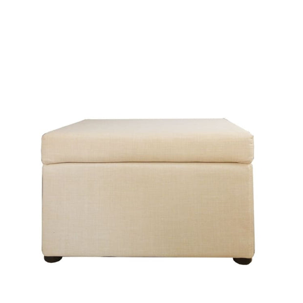 This is a product image of Ottoman Storage Coffee Table Beige (OPEN BOX). It can be used as an Outdoor Furniture.