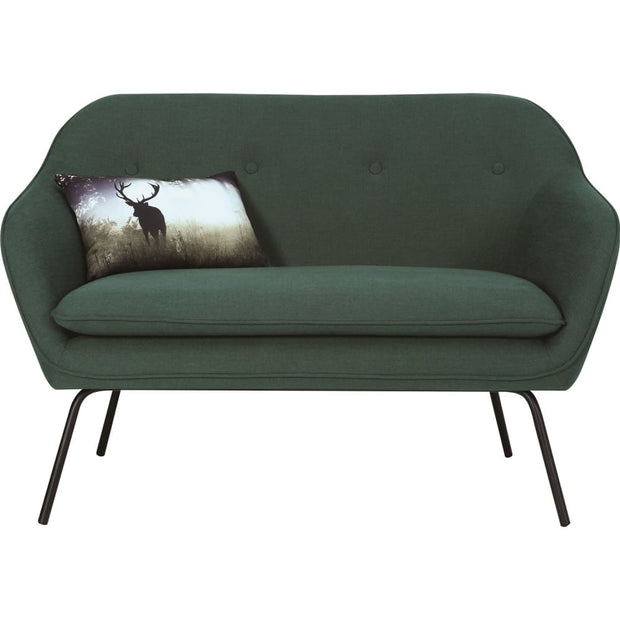 Picanto 2 Seater Sofa in Dark Green Crepon Fabric