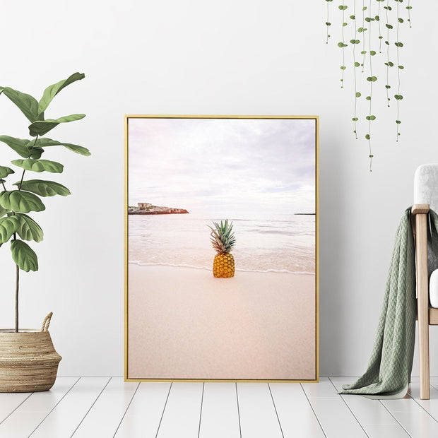 Pineapple Beach - Wall Art Print with Frame