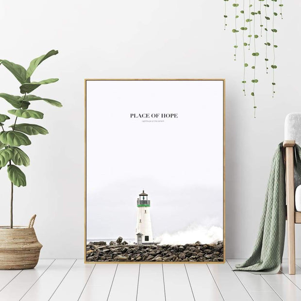 This is a product image of Place of Hope - Wall Art Print with Frame. It can be used as an Accessories.