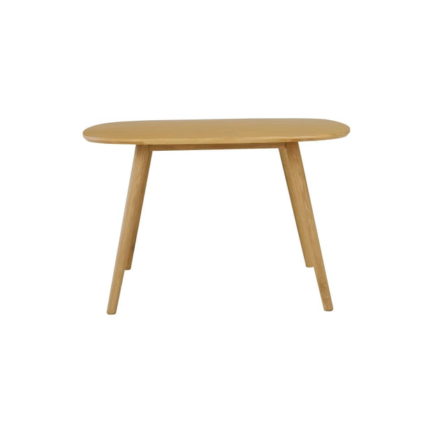 This is a product image of Ponce 2-4 Seat Dining Table in Oak Veneer Top. It can be used as an.