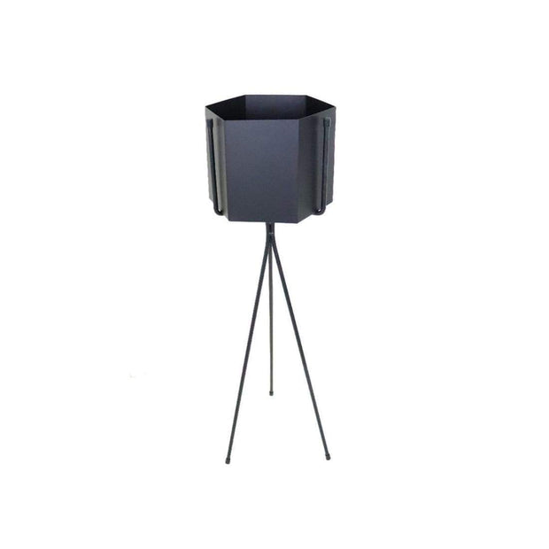 This is a product image of Radiant Black Free Standing Planter. It can be used as an Accessories.