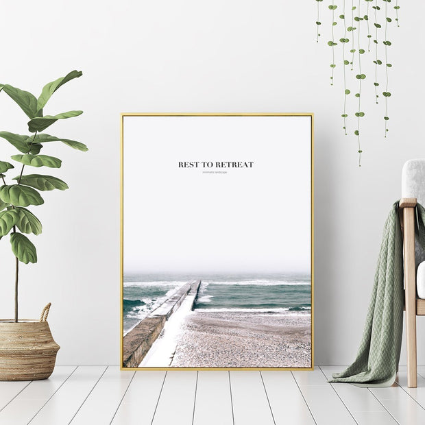 Rest To Retreat - Wall Art Print with Frame