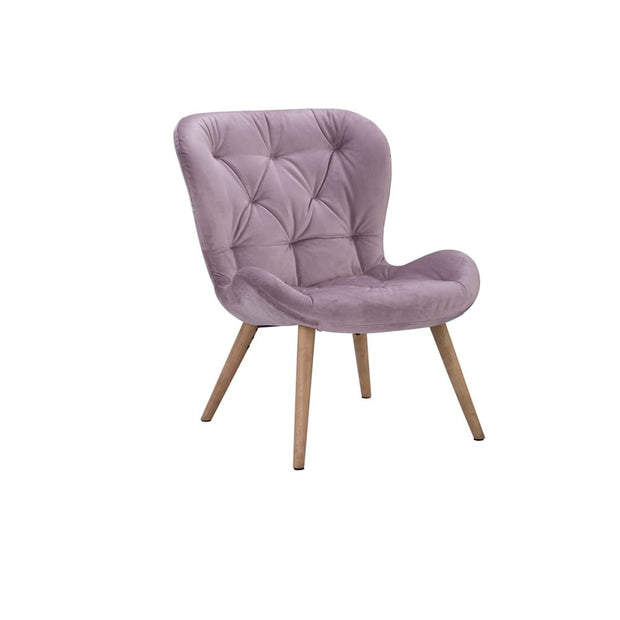 Salomi Lounge Chair Rosa Veloutine fabric - Arena Living