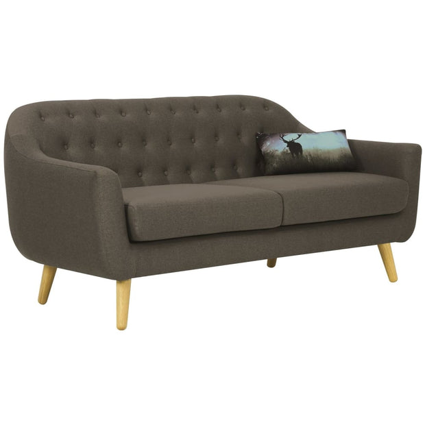 Senku 3 Seater Sofa Grey Burrel Fabric