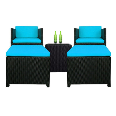 This is a product image of Splendor Armchair Set Blue Cushions. It can be used as an Outdoor Furniture.